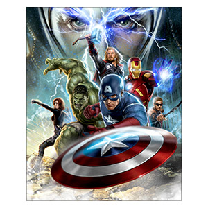 Avengers. Размер: 40 х 50 см